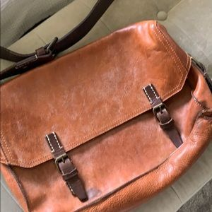 John Varvatos Bags - John Varvatos distressed leather messenger bag